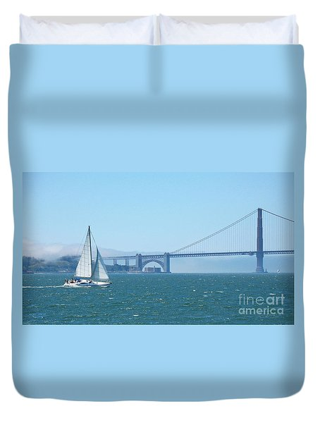 Classic San Francisco Bay Duvet Cover