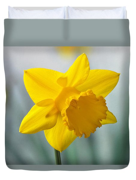 Classic Spring Daffodil Duvet Cover by Terence Davis