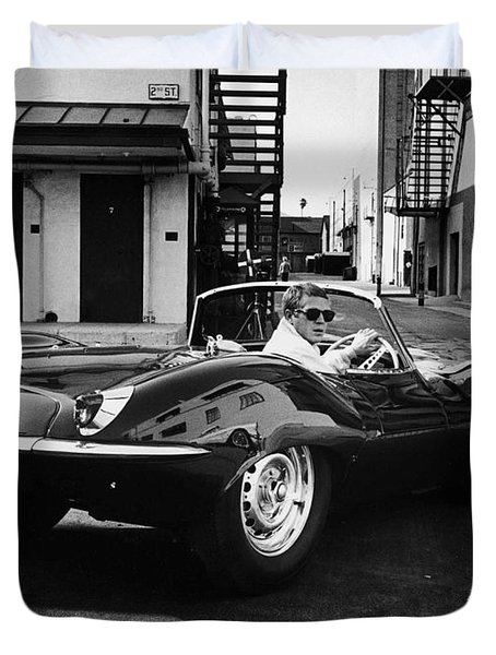 Classic Steve Mcqueen Photo Duvet Cover