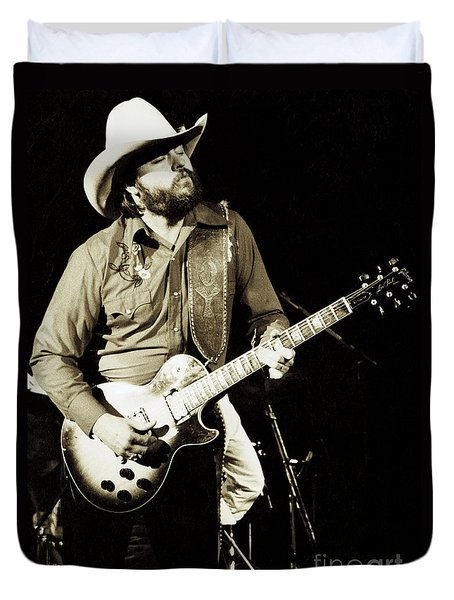 Classic Toy Caldwell Of The Marshall Tucker Band At The Cow Palace-new Years Concert  Duvet Cover