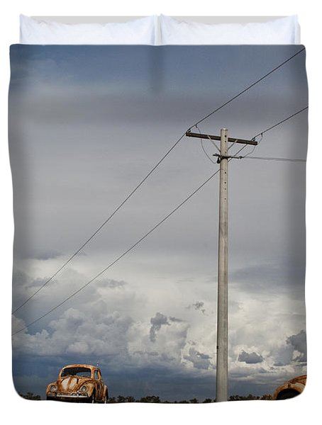 Duvet Cover featuring the photograph Classic Volkswagen Beetle by Lana Enderle