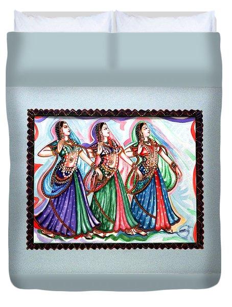 Classical Dance1 Duvet Cover by Harsh Malik