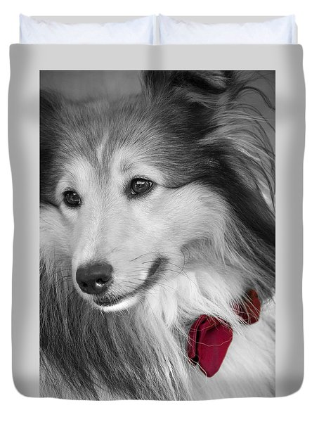Classy Red Duvet Cover by Loriental Photography