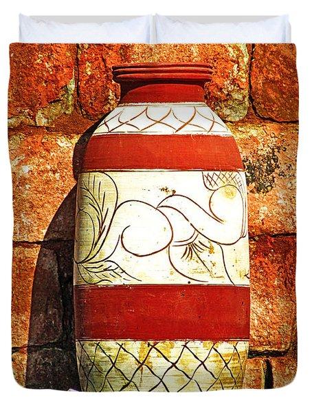 Clay Art Duvet Cover
