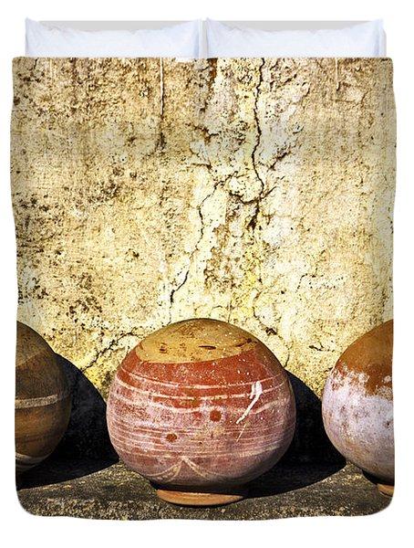 Clay Pots Duvet Cover
