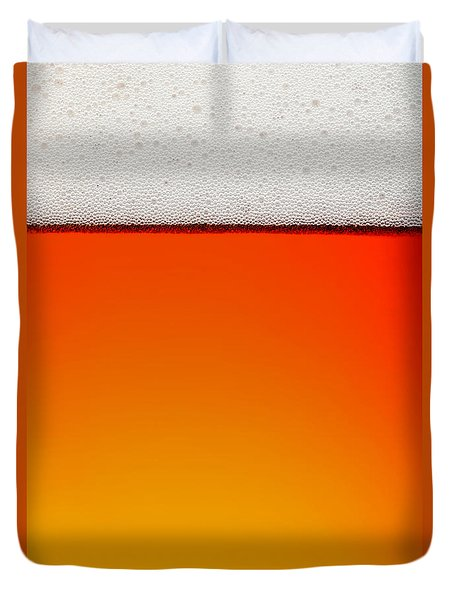 Clean Beer Background Duvet Cover by Johan Swanepoel