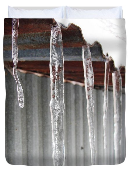 Duvet Cover featuring the photograph Clear As Glass by Tiffany Erdman