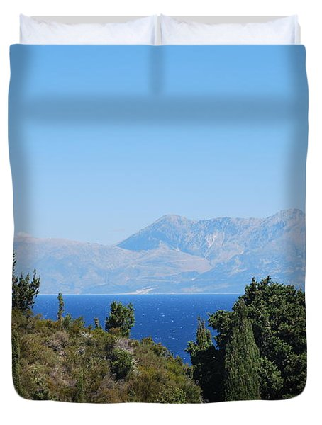 Duvet Cover featuring the photograph Clear Day by George Katechis