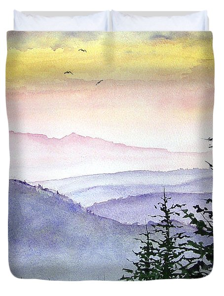 Clear Mountain Morning II Duvet Cover