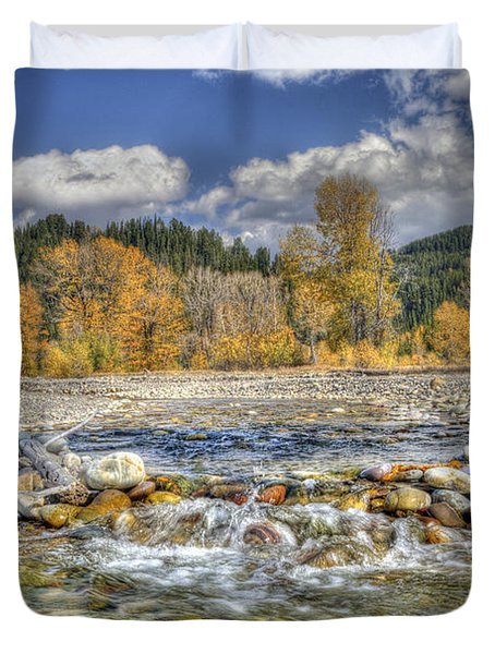 Duvet Cover featuring the photograph Clear Stream by Wanda Krack