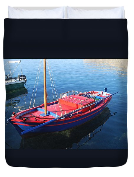 Duvet Cover featuring the photograph Clear Waters by George Katechis