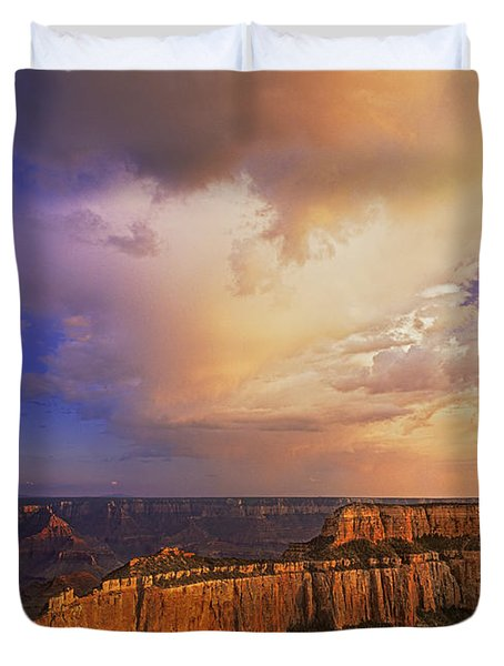 Duvet Cover featuring the photograph Clearing Storm Cape Royal North Rim Grand Canyon Np Arizona by Dave Welling