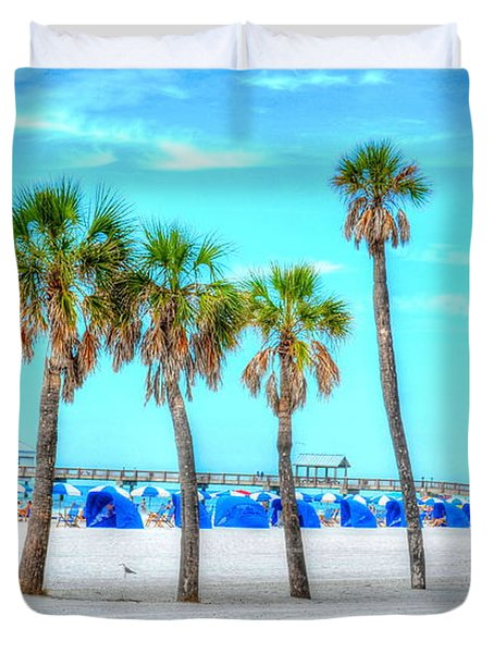 Clearwater Beach Duvet Cover by Debbi Granruth