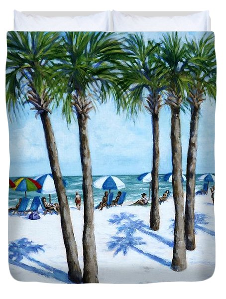 Clearwater Beach Morning Duvet Cover
