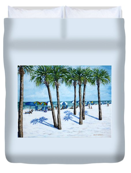 Clearwater Beach Morning Duvet Cover by Penny Birch-Williams