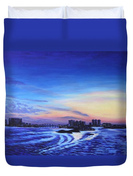 Clearwater Beach Sunset Duvet Cover by Penny Birch-Williams