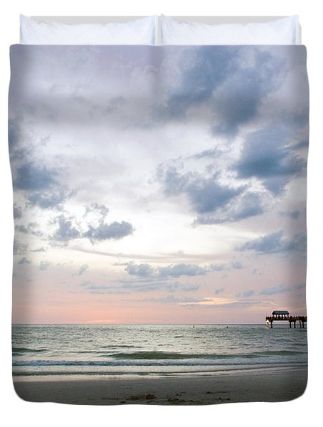 Clearwater Fishing Pier Duvet Cover
