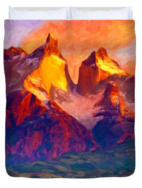 Cleft Summit Duvet Cover
