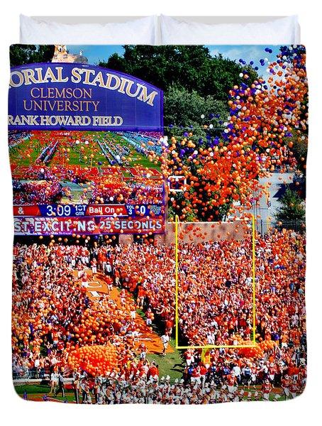 Clemson Tigers Memorial Stadium Duvet Cover
