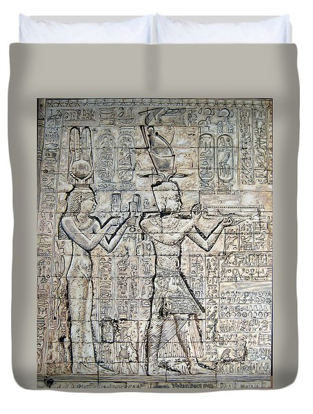 Cleopatra And Caesarion Duvet Cover