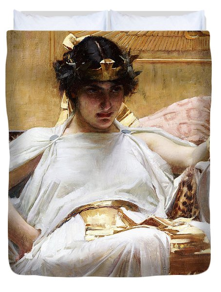 Cleopatra, C.1887 Oil On Canvas Duvet Cover