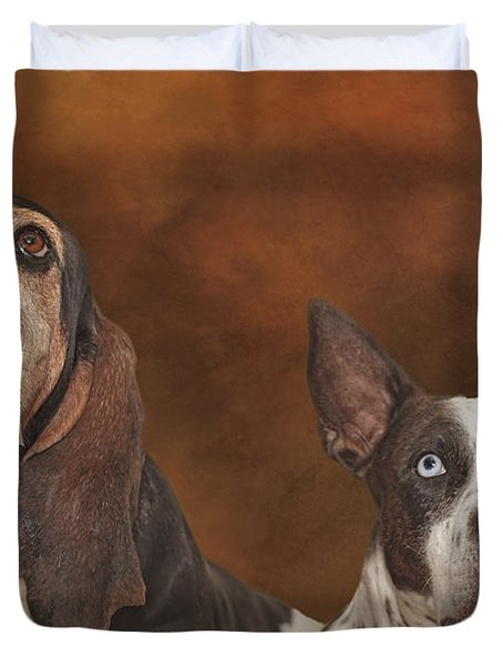 Cleopitra And Elvis  Duvet Cover by Brian Cross
