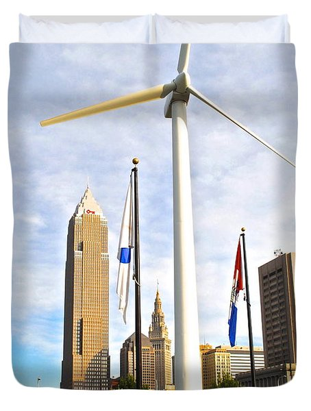 Cleveland Ohio Science Center Duvet Cover by Frozen in Time Fine Art Photography