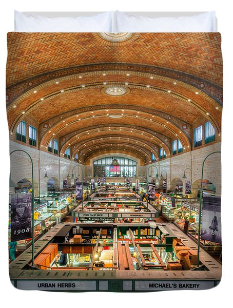 Cleveland West Side Market IIi Duvet Cover