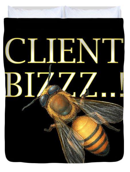 Client Buzzz Duvet Cover