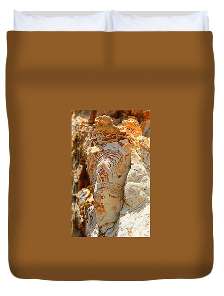 Cliff Face Duvet Cover by Tap On Photo