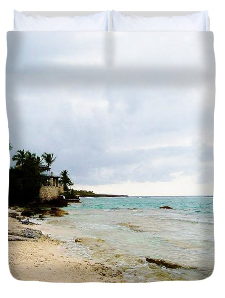 Duvet Cover featuring the photograph Cliff House 2 by Amar Sheow