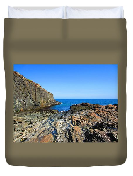 Cliff House Maine Coast Duvet Cover