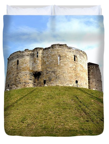 Duvet Cover featuring the photograph Clifford's Tower York by Scott Lyons