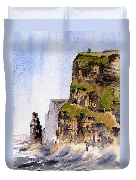 Clare   The Cliffs Of Moher   Duvet Cover