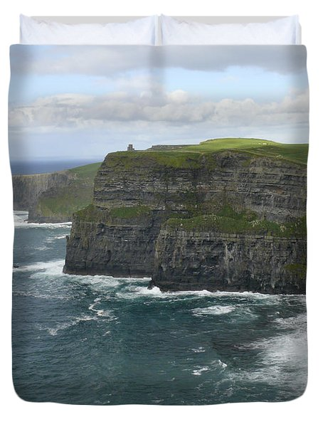 Cliffs Of Moher 3 Duvet Cover by Mike McGlothlen