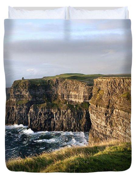 Cliffs Of Moher Evening Light Duvet Cover