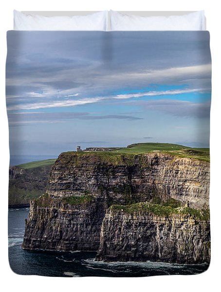 Duvet Cover featuring the photograph Cliffs Of Moher I by Juergen Klust