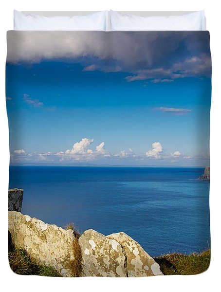 Duvet Cover featuring the photograph Cliffs Of Moher by Juergen Klust