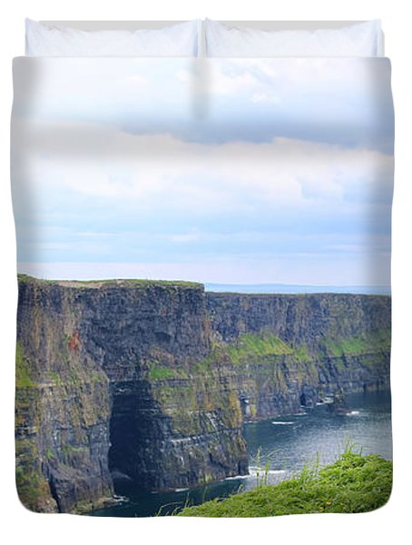 Cliffs Of Moher Panorama 3 Duvet Cover
