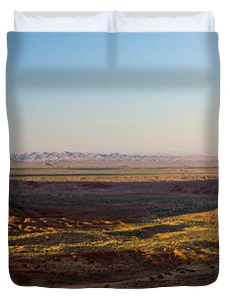Cliffs On A Landscape, Monument Valley Duvet Cover by Panoramic Images
