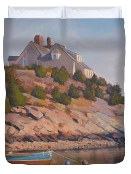 Cliffside Duvet Cover by Dianne Panarelli Miller