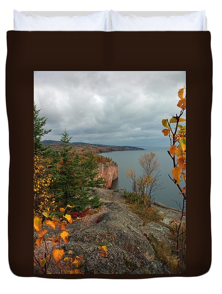 Cliffside Fall Splendor Duvet Cover