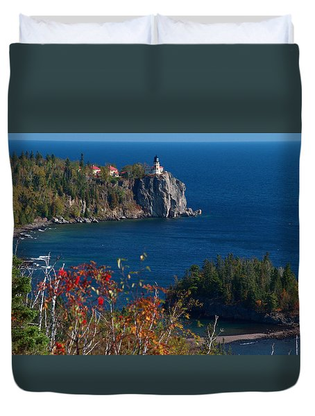 Cliffside Scenic Vista Duvet Cover