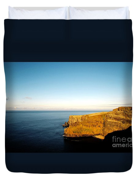 Duvet Cover featuring the photograph Clifs Of Moher In Ireland by Maja Sokolowska