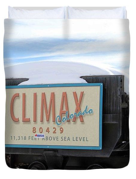 Climax Colorado Duvet Cover by Fiona Kennard