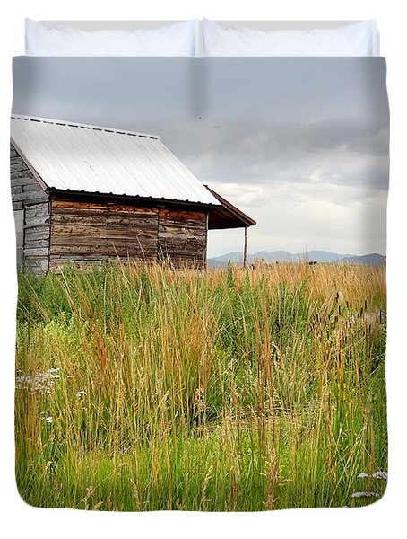 Cline Ranch Outbuilding II Duvet Cover