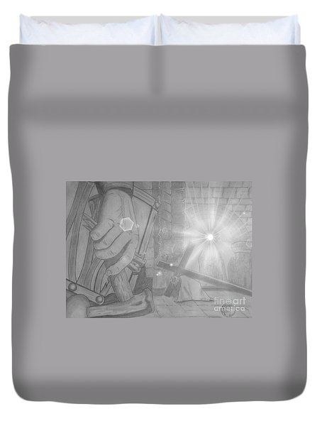 Clinging To The Cross Lights Duvet Cover