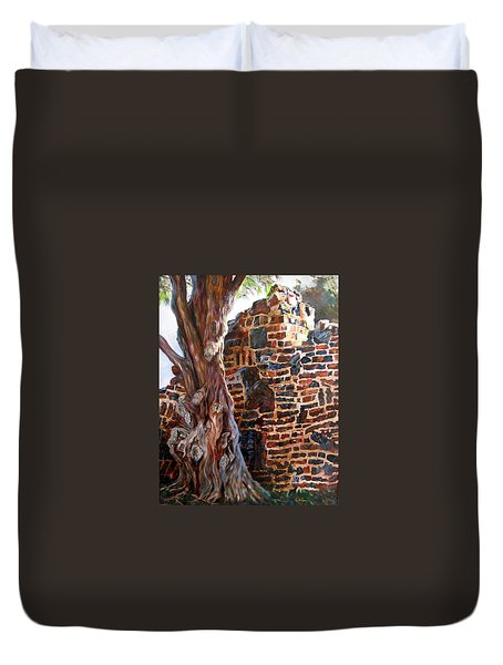 Clinker Wall Duvet Cover by LaVonne Hand