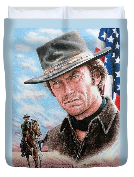 Clint Eastwood American Legend Duvet Cover