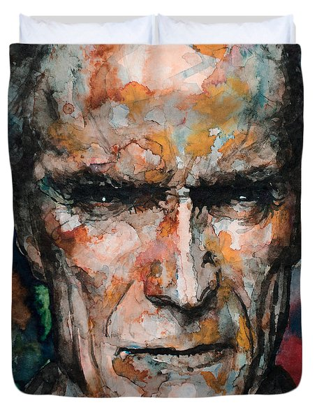Clint Eastwood Duvet Cover by Laur Iduc